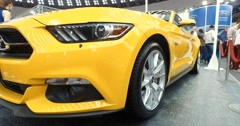 Serbia,Belgrade Car Motor Moto show March 2016 Mustang GT Stock Footage