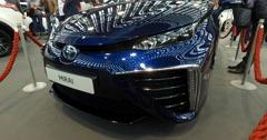 Serbia,Belgrade Car Motor Moto show March 2016 Toyota Mirai Stock Footage