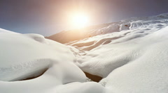 nature landscape covered with snow. winter season scenery background - stock footage