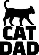 Cat dad Stock Illustration