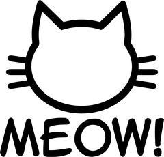 Cat Meow - stock illustration