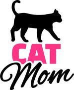 Cat Mom Stock Illustration