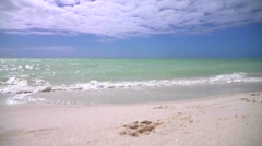 Empty Tropical Beach In Florida Stock Footage
