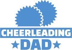 Cheerleading dad - stock illustration
