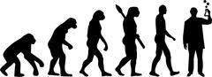 Chemistry Laboratory Evolution - stock illustration