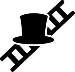 Chimney Sweeper Hat Ladder - stock illustration