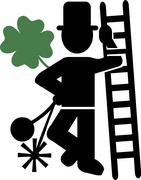 Chimney Sweeper Lucky - stock illustration