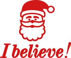 Santa Claus head with I believe Stock Illustration