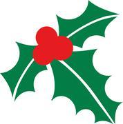 Christmas mistletoe - stock illustration