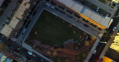 Aerial Of Downtown Philadelphia, Pennsylvania during dusk. Stock Footage