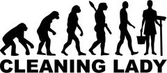 Stock Illustration of Cleaning Lady Evolution