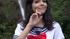 Cosplay Girl Anime Outfit - stock footage