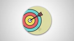 4K - Dart icon symbol round logo - stock footage
