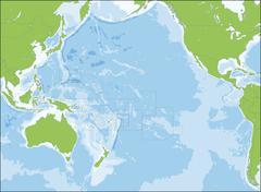 Map of Oceania Stock Illustration