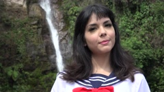 Adorable Female Japanese Cosplay Stock Footage