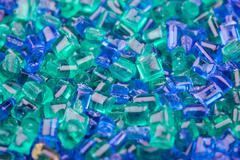 texture of the plastic granules closeup - stock photo