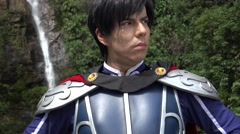 Confident Young Cosplay Prince Stock Footage
