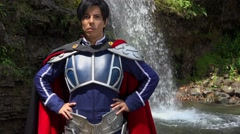 Confident Cosplay Male Prince Stock Footage