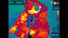Guitar player - Flir Thermal Video Stock Footage