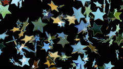 Flying stars. Looping. - stock footage