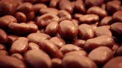 Chocolate Covered Peanuts Rotating Stock Footage
