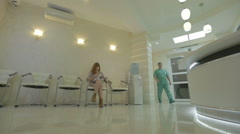 Doctor and patient shaking hands, cinestyle Stock Footage