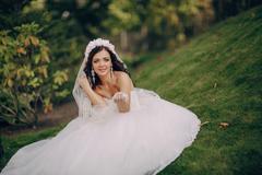 magical festive wedding day - stock photo