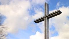 Big cross against blue sky HD - stock footage