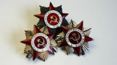 4K Soviet Military Medal Stock Footage