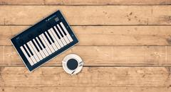 music and technology - stock illustration