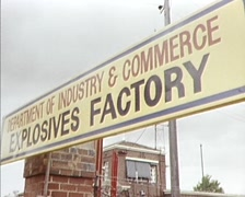 Explosives Factory (exterior) 1980s - stock footage