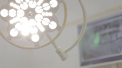 Lamp in the dental office  switch off Stock Footage