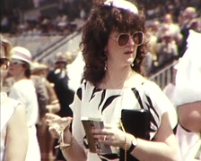 Melbourne Cup Day, Fashions and People Stock Footage