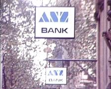 Bank Exteriors & Signage (1980s) Stock Footage
