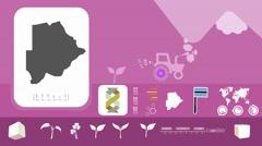 Botswana - Agriculture - Vector Animation - purple Stock Footage
