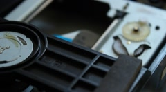 DVD player. Inside a DVD player. - stock footage