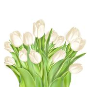 Tulips decorative background. EPS 10 - stock illustration