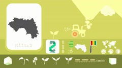 Guinea - Agriculture - Vector Animation - yellow Stock Footage