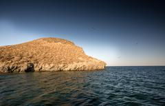 Isla Grosa - Spanish island near La Manga - stock photo