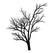 Trees with dead branches Stock Illustration