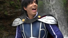 Happy Young Prince Cosplay Stock Footage