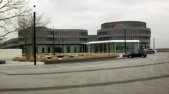 Leica factory in Wetzlar, Germany, cloudy weather, long shot Stock Footage
