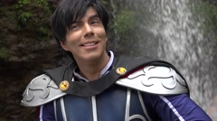 Young Man Wearing Prince Cosplay Costume Stock Footage