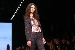 Cigdem Akin Catwalk in Mercedes-Benz Fashion Week Istanbul - stock photo