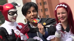 Cosplay Halloween Costumes And Candy Stock Footage