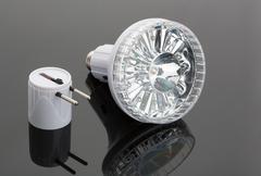 Modern flashlight - stock photo