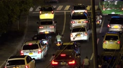 Night Road Automobile Traffic - stock footage