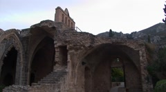 Bellapais Abbey near Kyrenia, TRNC Northern Cyprus Stock Footage