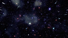 Flying through star fields in deep space - Space 2138 HD, 4K Stock Video Stock Footage