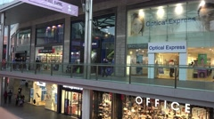 Liverpool one high street busy shopping center Stock Footage